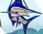 Stained Glass Blue Marlin (Makaira nigricans) Suncatcher