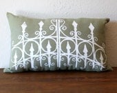Sale - the Garden Gate Pillow in GREEN