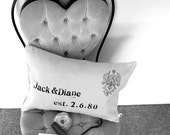 Wedding Pillow - Customize the name and date - Wedding or Anniversary Gift