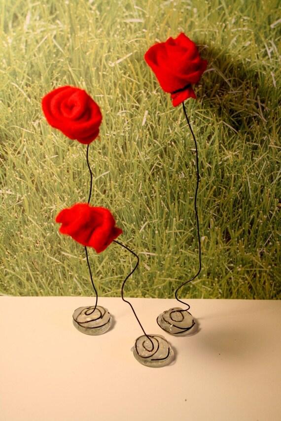 the Rose Garden - set of 3 Roses Home Decor