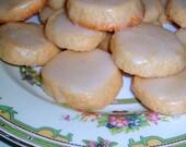 2 Dozen Lemon Glazed Lemon Shortbread Cookies