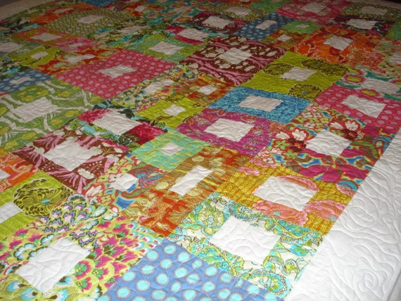 Twin Quilt Amy Butler Soul Blossom-72 x 92