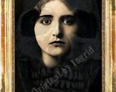 Hidden Skeleton Digital Collage Greeting Card (Suitable for Framing)