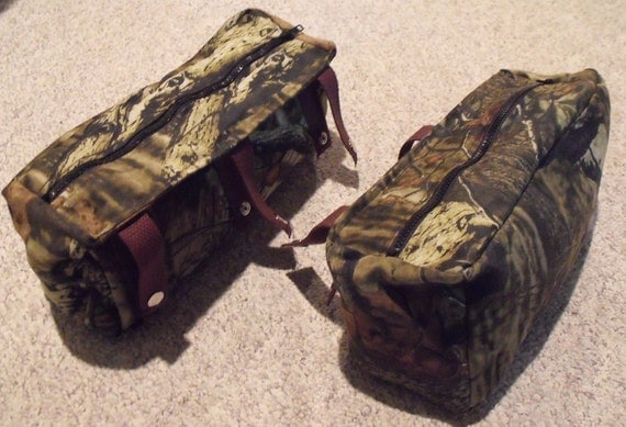 Camouflage Hunting Treestand Bags Set Of Two Side Storage