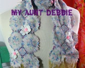 Forget Me Not  Heirloom Lace Scarf