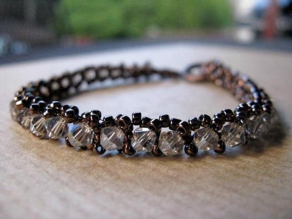 Tennis Bracelet Bronze Crystal - Victorian