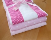 Pretty in Pink Burp Cloths (set of 3)