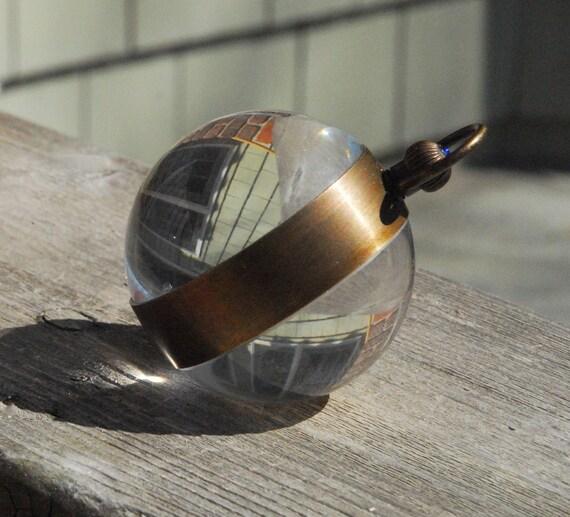 Steampunk Supplies Crystal Brass Mechanical Ball Clock
