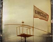 Gold Circus Flag Photograph--Circus Flag--Antiqued--Fine Art