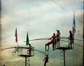 Circus Highwire Silhouette Photograph--Balancing Act --Fine Art
