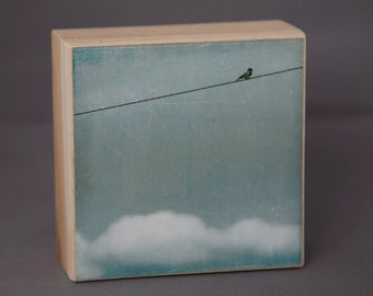 Above It All--2--4x4 Fine Art Photograph on Wood Panel