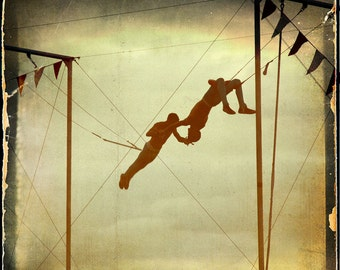 Circus Trapeze Photograph--You're the One I've Been Waiting For--Fine Art
