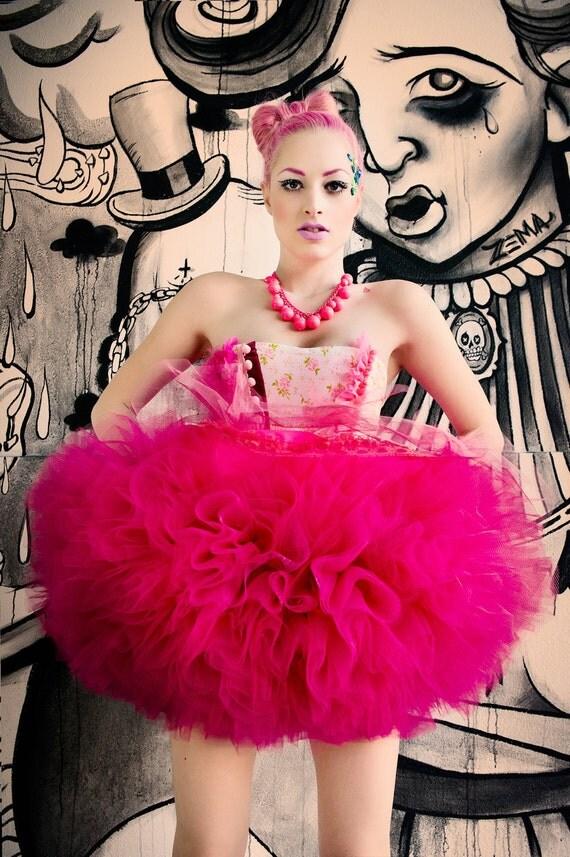 Japanese Fashion Harajuku Decora Girl KPop Kawaii KPop Pink Circus Costume Tutu by Janice Louise Miller