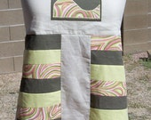Wave Rider Patchwork Apron Top