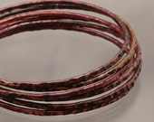 Handmade Purple Copper Bangle Bracelet  - Violet Squares - 9 1/2 inches Womens Jewelry