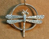 Sterling Dragonfly Pendant