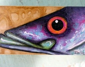 Painted Snook Fish Wood Box w\/ Lid