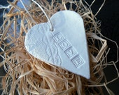 Love Lace Embossed Heart