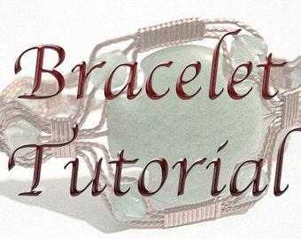 Tutorial Making a Stone Cross Bracelet PDF Wire Wrapped Jewelry