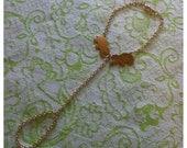 gold elephant slave bracelet chain links ring