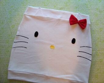 white kitty skirt made to order