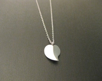 Sterling Sliver Handmade, Heart Necklace / Valentine's Day