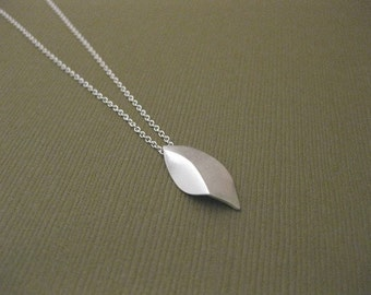Sterling Sliver Handmade, Elm Leaf necklace I