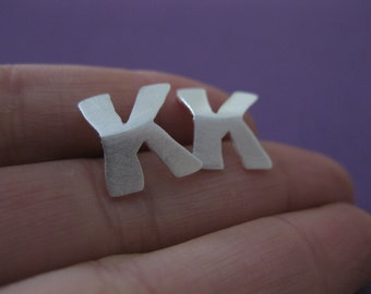 Personalized Alphabet Earrings, Sterling Sliver Handmade