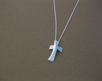 Sterling Sliver Handmade, Cross Necklace I