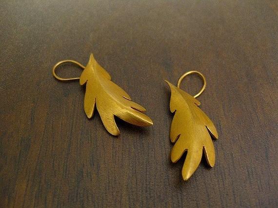 White Oak Earrings -18K Gold