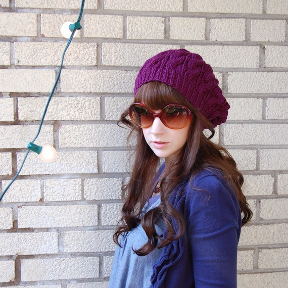 CABLE BERET KNITTING PATTERN
