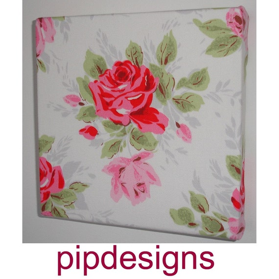 Wall Art Canvas Shabby Chic : Small canvas wall art shabby chic cath kidston pink