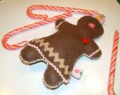 Felt Gingerbreadgirl ornament or pincushion