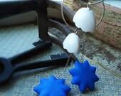 Shell Shock (earrings, sterling silver, vintage beads)