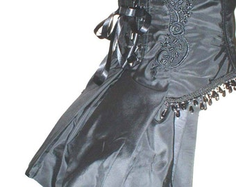 Victorian Burlesque Underbust Bustle Corset