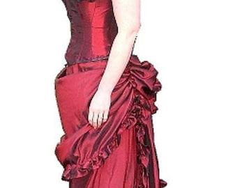 Taffeta Victorian Bustle Skirt Ensemble