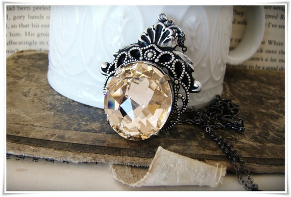 Mermaid - Creature Collection - A Neo-Victorian Silk Crystal Necklace