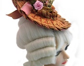 Marie Antoinette Ball Joint Doll Hat with Birdcage BJD Dollfie