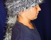 Hand Knitted Raccoon Hat
