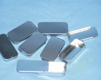 50 small slide top tins 1/4 oz item 301 great for lip balm or salves Item 301-50