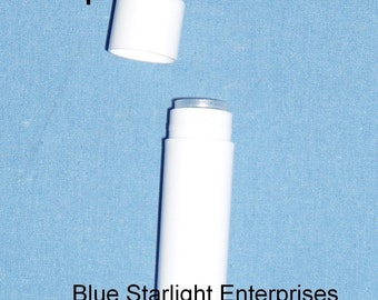 50 new empty white Lip Balm tubes - make your own - same size as Chapstick or Burt's Bees item 300