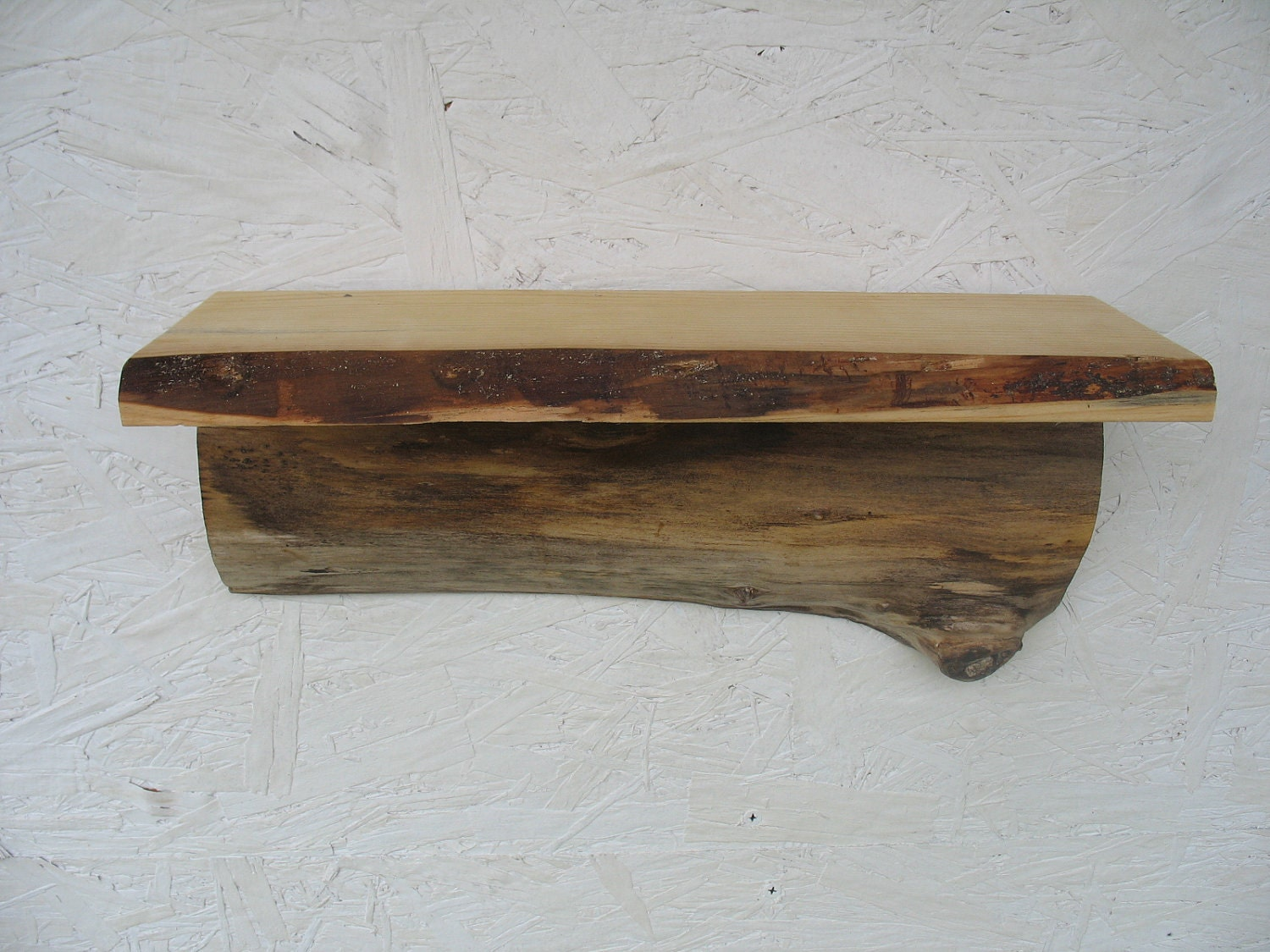 Amazing photo of Rustic primitive tree Wood Shelf salvaged recycled by lazydazefarm with #614730 color and 1500x1125 pixels