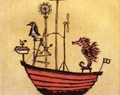 Whirligig -- original limited edition etching