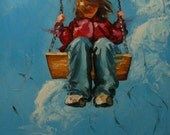 Print of Swing4 16x24 from oil painting by Roz