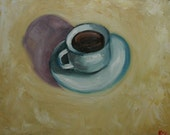 Coffee 7 16x20 inch original oil painting by Roz