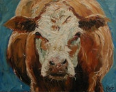 16x20 Print of oil painting Cow44 by Roz