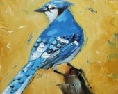 Bird 39 10x10 inch Print from oil painting by Roz