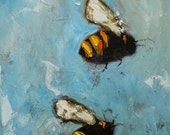 Bee 152 12x24 inch original oil painting by Roz