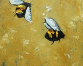 Bee 165 12x12 inch original oil painting by Roz