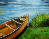 Boat 22 18x24 inch original oil painting by Roz